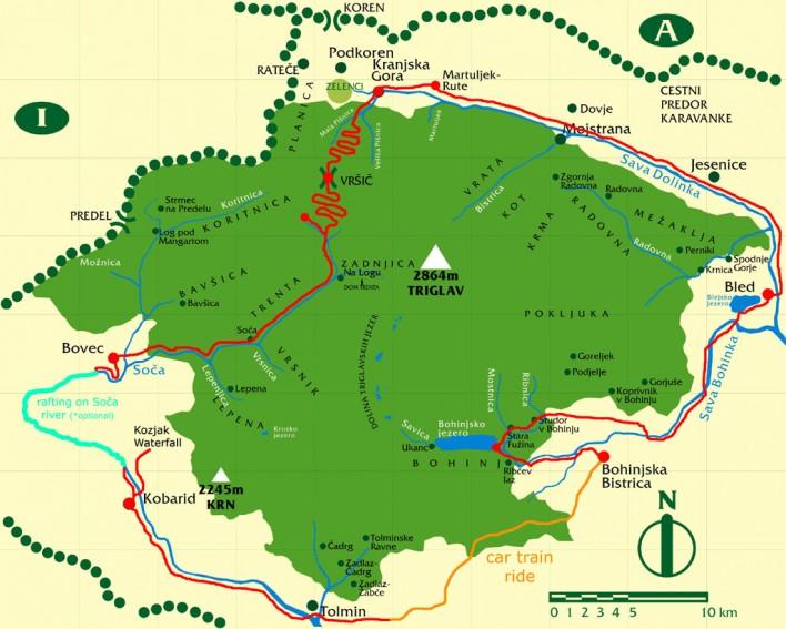 Emerald River Adventure route map