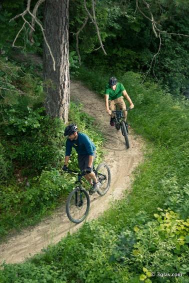Biking single trails, Bled, Slovenia