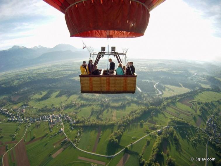 Ballooning, Bled golf, Slovenia