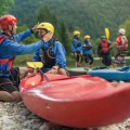 Kayaking tour start Bled Slovenia