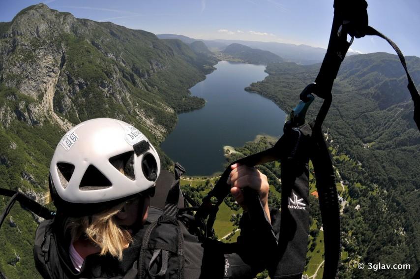 Tandem paragliding bohinj lake
