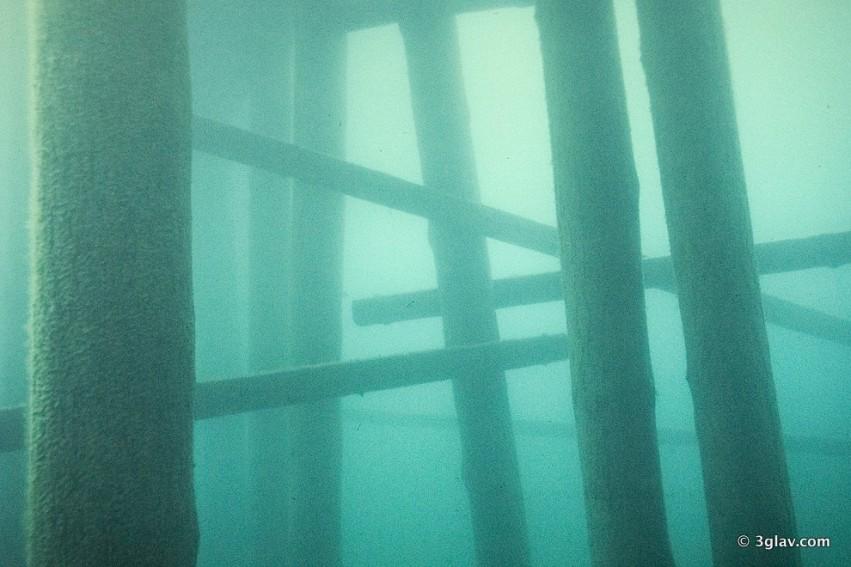 Scuba underwater Bled lake