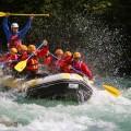 Soca river splash Bovec Slovenia
