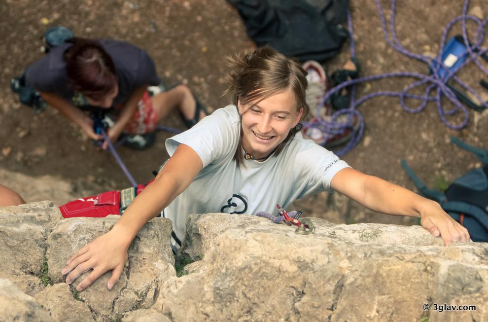 Sport climbing, Slovenia, Bled, beginners