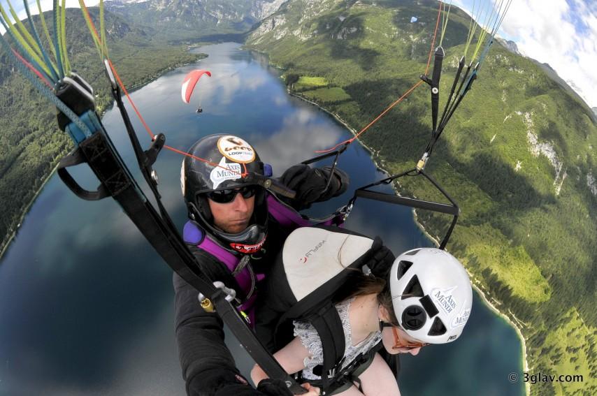 Tandem paragliding adventure Slovenia