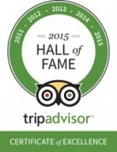 TripAdvisor Hall of Fame Certificate 3glav