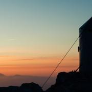 Hiking, summit of Mount Triglav, Slovenia