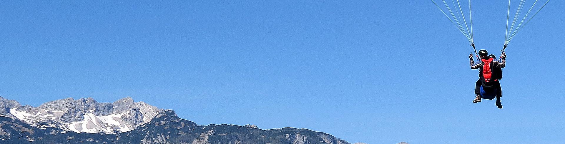 Tandem paragliding Vogel Bohinj Slovenia