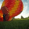 Hot air Balloon rising Bled, Slovenia