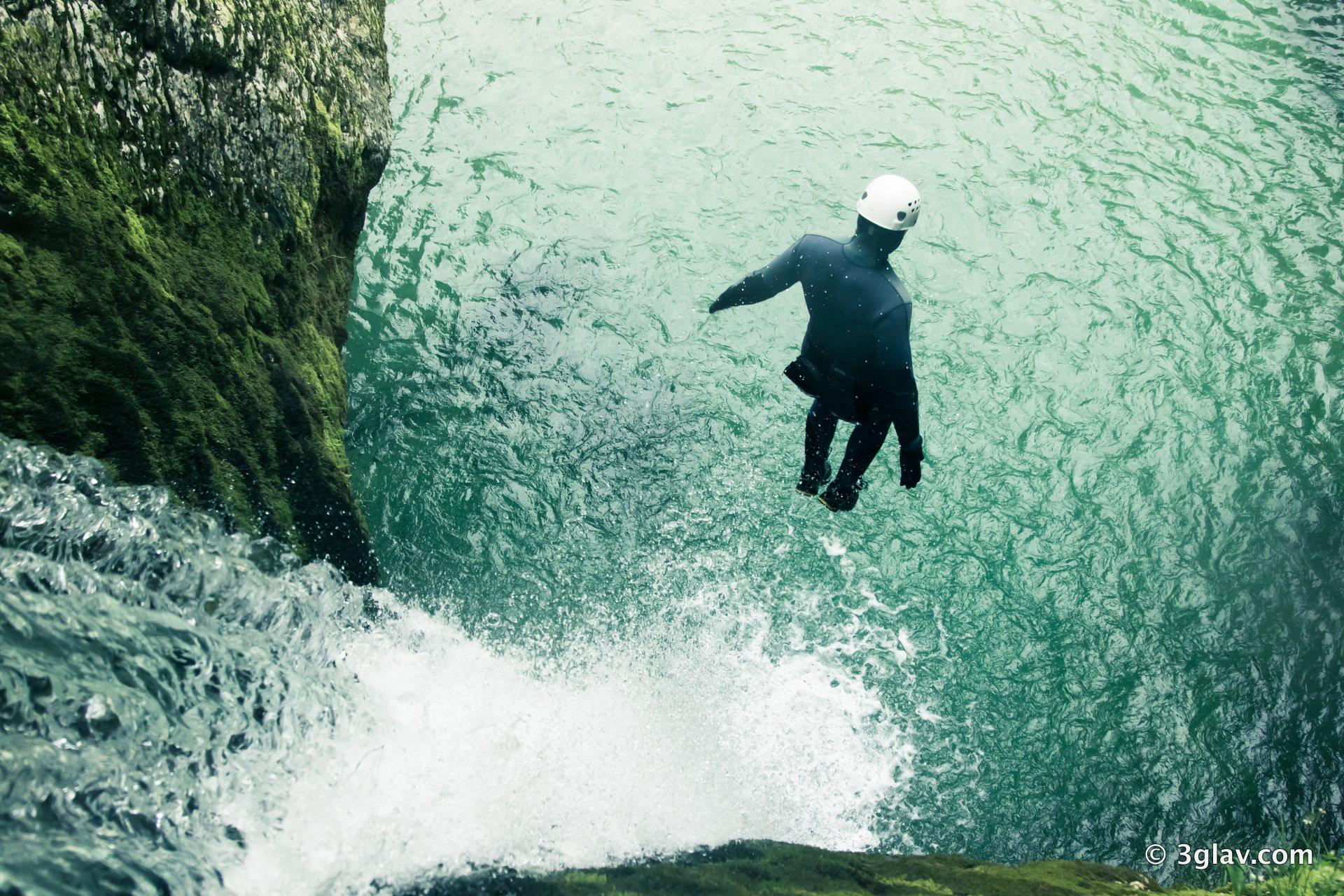 Canyoning jump pool