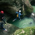 Canyoning adventure pool Slovenia
