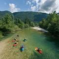 Kayak trip sava bohinjka river bohinj
