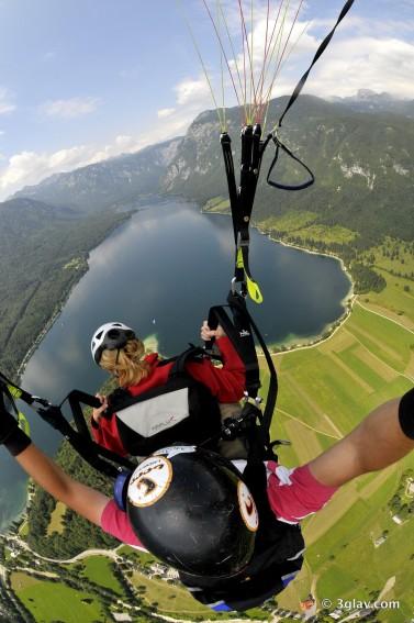Tandem paragliding Slovenia Bohinj Bled