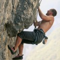 Rock climbing, Slovenia, experienced climber