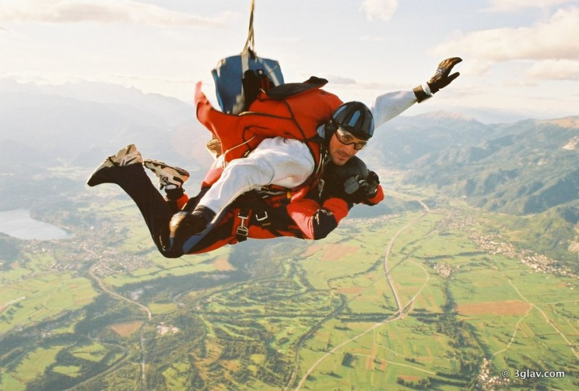 Tandem skydiving in Slovenia Bled, 3glav Adventures
