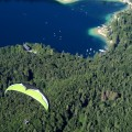 Paragliding from Vogel, Lake Bohinj