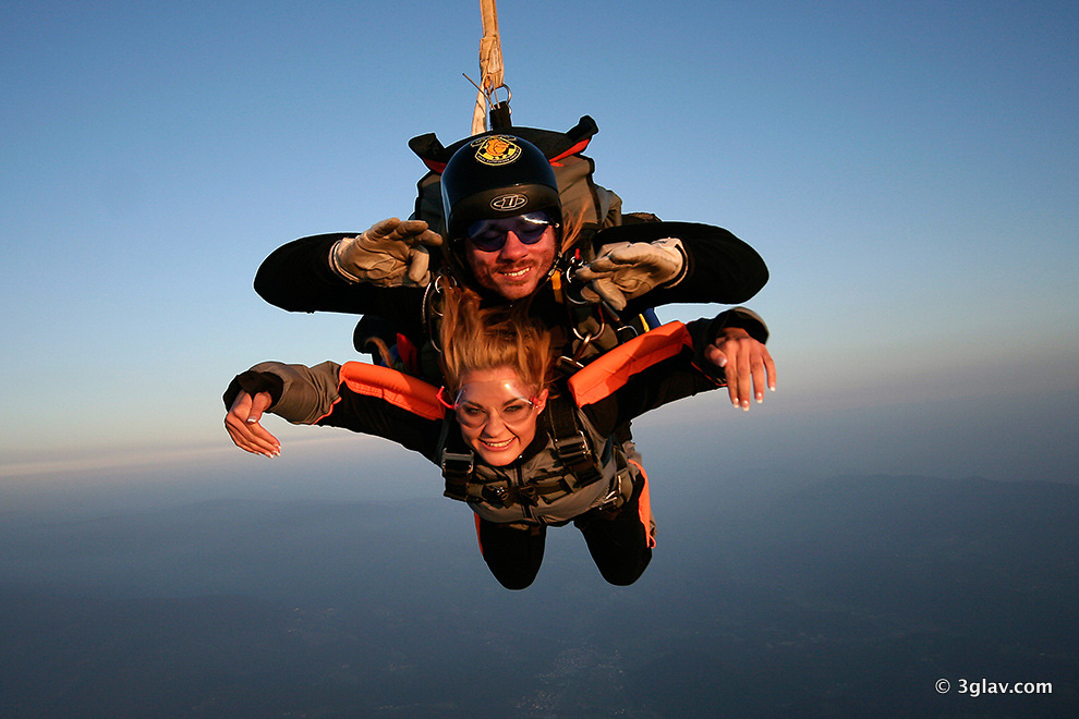 Tandem Skydiving Slovnenia Bled 3glav