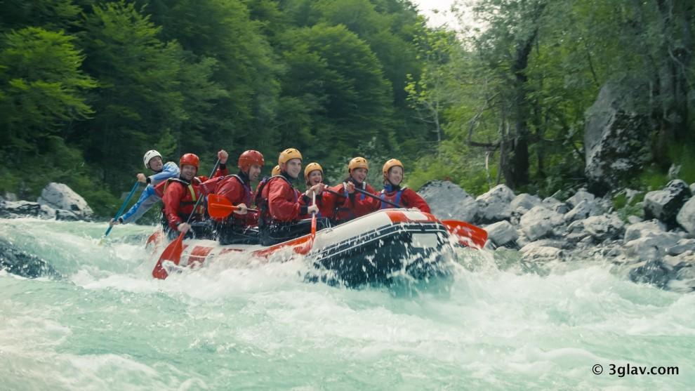 Rafting Soca river tour Slovenia